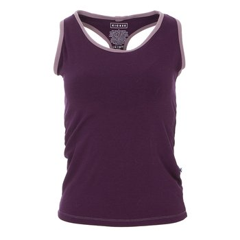 Solid Women's Performance Jersey Tank in Wine Grapes with Raisin