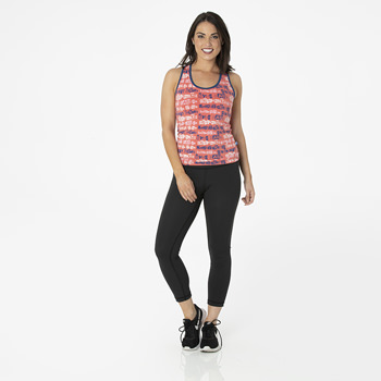 Print Women's Performance Jersey Tank in English Rose London Towns