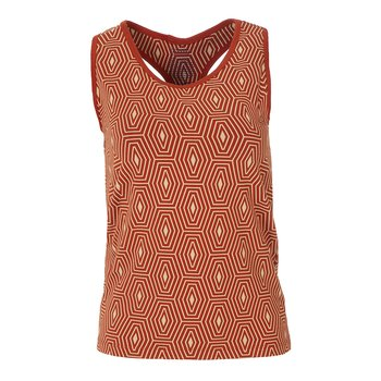 Print Women's Luxe Tank in Red Tea Tortoise Shell