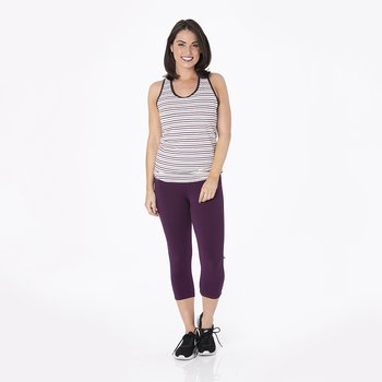 Print Women's Performance Jersey Tank in Tuscan Vineyard Stripe