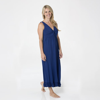Solid Twist Nightgown in Flag Blue