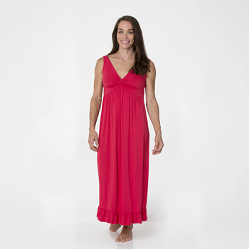 Solid Twist Nightgown in Flag Red