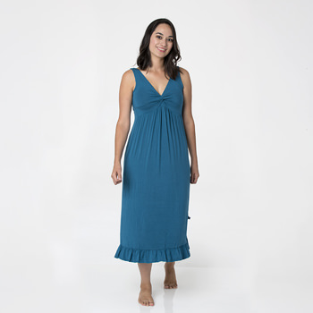 Solid Twist Nightgown in Heritage Blue