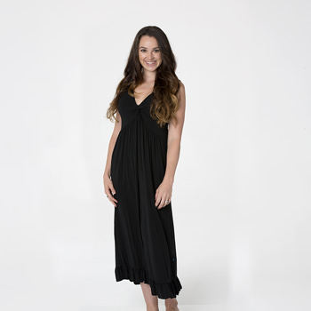 Solid Twist Nightgown in Midnight