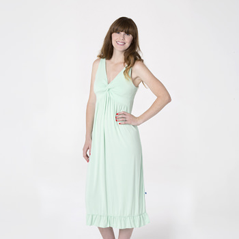 Solid Twist Nightgown in Pistachio