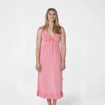 Solid Twist Nightgown in Strawberry