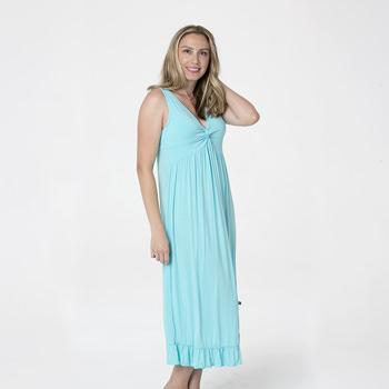 Solid Twist Nightgown in Shining Sea
