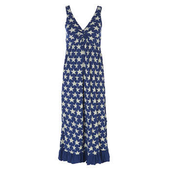 Print Twist Nightgown in Vintage Stars