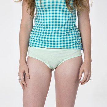 Solid Women's Classic Brief in Pistachio