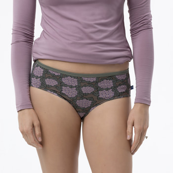 Print Women's Classic Brief in African Violets