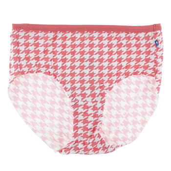 Print Women's Classic Brief in English Rose Houndstooth