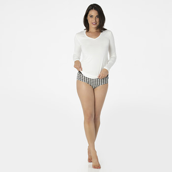 Print Women's Classic Brief in Zebra Houndstooth