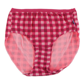 Print Women's Classic Brief in Flag Red Gingham