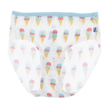 Print Women's Classic Brief in Natural Ice Cream