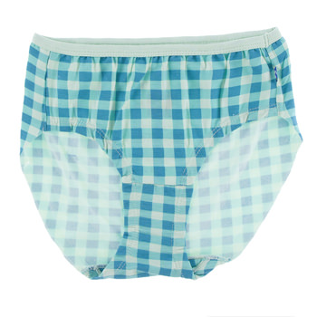 Print Women's Classic Brief in Pistachio Gingham