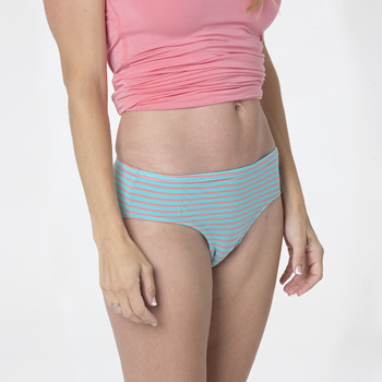 Print Women's Classic Brief in Strawberry Stripe