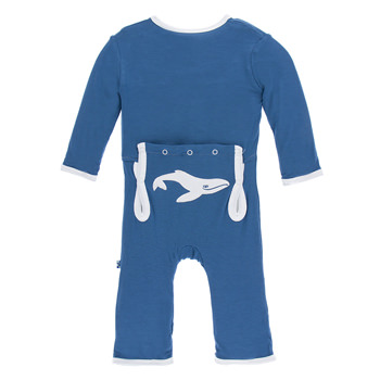 Applique Coverall with Zipper in Twilight Whale