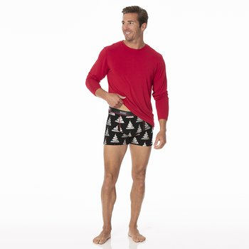 Men's Boxer Brief in Midnight Foil Tree