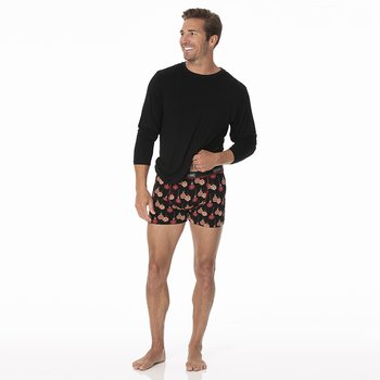 Men's Boxer Brief in Midnight Ornaments
