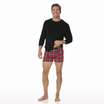 Men's Boxer Brief in Christmas Plaid 2019