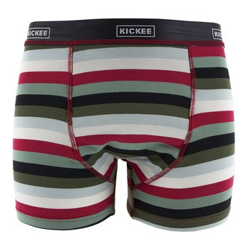 Men's Boxer Brief in Christmas Multi Stripe