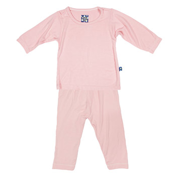Basic Long Sleeve Pajama Set in Lotus