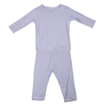 Basic Long Sleeve Pajama Set in Lilac