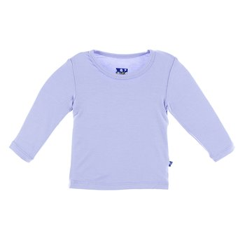 Basic Long Sleeve Tee in Lilac
