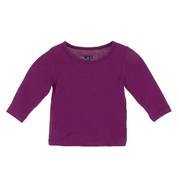 Basic Long Sleeve Tee in Orchid