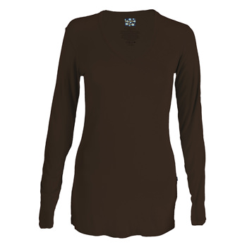 Basic Long Sleeve One Tee in Bark