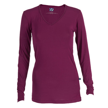 Basic Long Sleeve One Tee in Orchid