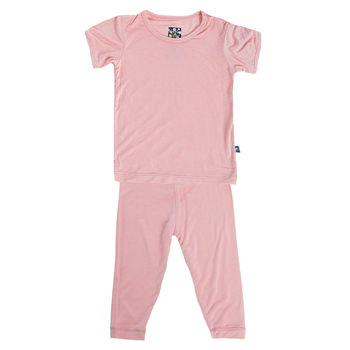 Basic Short Sleeve Pajama Set in Lotus