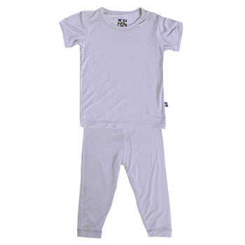 Basic Short Sleeve Pajama Set in Lilac