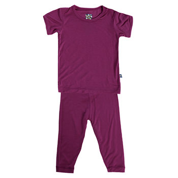 Basic Short Sleeve Pajama Set in Orchid