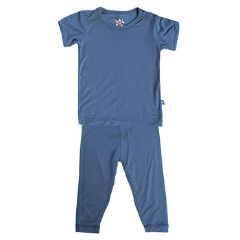 Basic Short Sleeve Pajama Set in Twilight