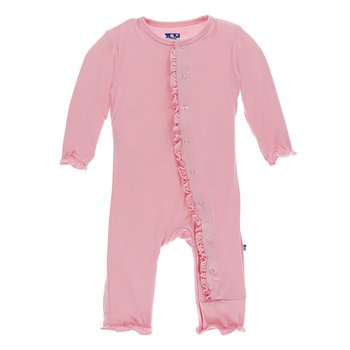 Basic Classic Ruffle Coverall in Lotus