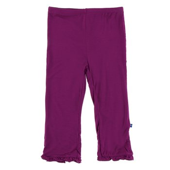 Basic Ruffle Pant in Orchid